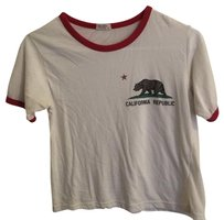 Brandy Melville T Shirt White/red
