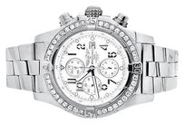 Breitling Breitling A13370 Super Avenger White Dial Stainless Steel With Diamonds 4.5 Ct