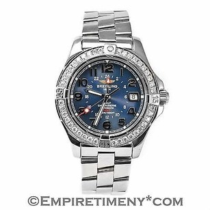 Breitling Breitling Aeromarine Colt A32350 Gmt Blue 1.60 Ct Bezel Automatic Mens Watch