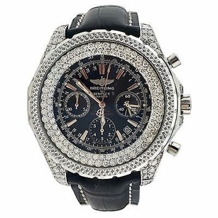 Breitling Breitling Bentley Motors Chrono Stainless Steel Black Dial Watch A25362 Diamonds