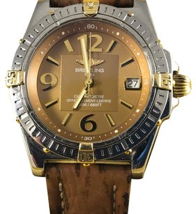 Breitling breitling chronometer mens steel and gold watch