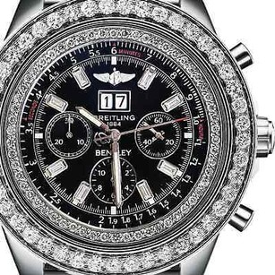Breitling Breitling For Bentley 6.75 A4436412 10ct Diamond Bezel Watch Black Dial