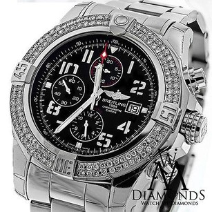 Breitling Breitling Super Avenger Ii Two Watch 3.00ct. Diamond Bezel A13371