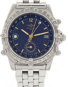 Breitling Mens Breitling Duograph Stainless Steel Watch A15507