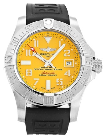 Preload https://item3.tradesy.com/images/breitling-silver-yellow-avenger-ii-seawolf-a17331-stainless-steel-men-s-watch-5977042-0-0.jpg?width=440&height=440