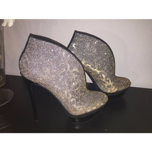 Brian Atwood Black, Silver,Gold Platforms