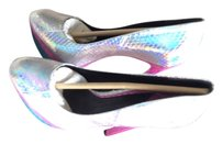 Brian Atwood silver,pink,blue Pumps