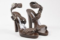 Brian Atwood Leather Brown Sandals
