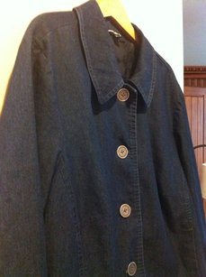 Briggs Denim Rounded Collar Blue Jacket