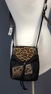 Brighton Leather Animal Cross Body Bag