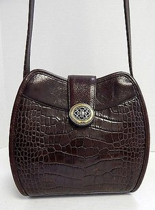 Brighton Croc Leather Cross Body Bag