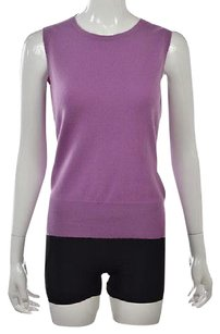 Brooks Brothers Womens Crewneck Sleeveless Cashmere Sweater