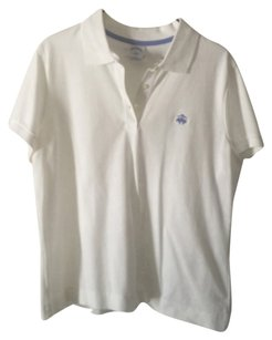 Brooks Brothers Polo Button Down Shirt white