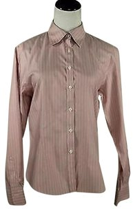 Brooks Brothers Brook Womens Top Pink