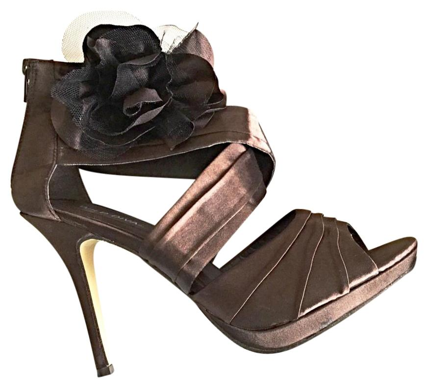 Brown Satin Special Occasion Heels