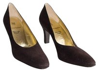 Bruno Magli Textured Suede Heel Evening Aaaa Brown Pumps