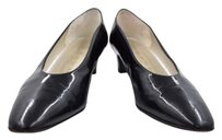 Bruno Magli Womens Kitten Heels Casual Patent Leather Black Pumps