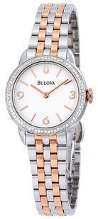 Bulova BULOVA Diamond White Dial Two Tone Stainless Steel Ladies Watch BUL98R182