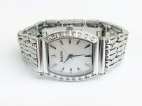 Bulova Bulova Stainless Steel Diamond Mother Of Pearl 96r39 Watch Max053864