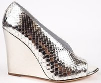 Burberry Prorsum Metallic Silver Platforms