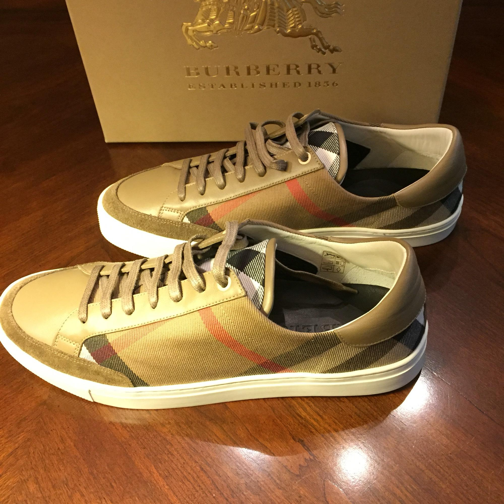 burberry check lowtop sneakers athletic shoes on sale 17