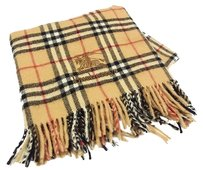 Burberry Auth Burberrys Nova Check Wool Wide Blanket Scarf F/S 9721eRN