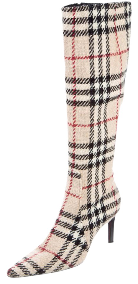 Burberry Nova Check Knee-High Boots online shop from china countdown package cheap price 5msyCWQl1m