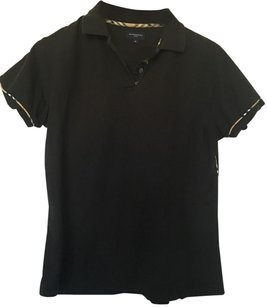 Burberry Polo Golf T Shirt Black