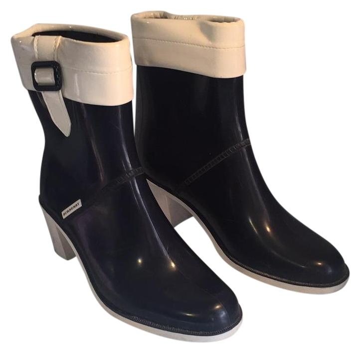 blue burberry boots
