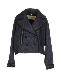 Burberry Brit Burberry Tweed Blue Wool blue tweed Jacket