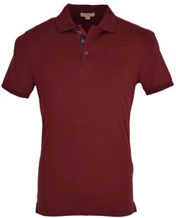 Burberry Brit Men's Polo T Shirt Maroon