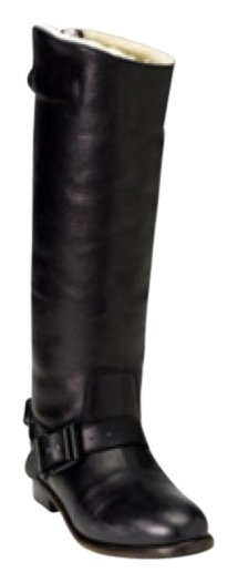 Burberry Brit Shearling Lined Buckle Boots