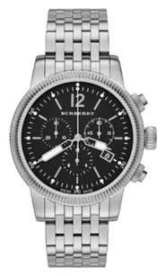 Burberry BU7839 the Utilitarian Stainless Black Dial Chronograph Mens Watch