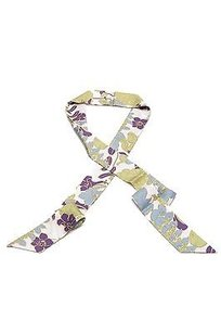 Burberry Burberry Multicolor Floral Print Slim Silk Scarf