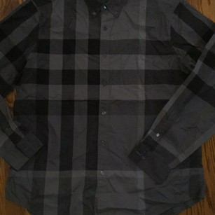 Burberry Button Down Shirt Black/Charcoal