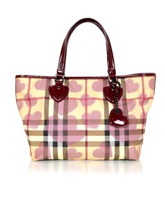 Burberry Check Plaid Nova Tote in Beige
