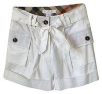 Burberry Dress Shorts White