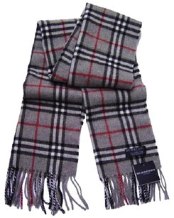 Burberry Burberry Dark Gray Check Scarf Muffler