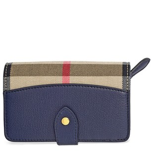 Burberry House Check Leather Wallet - Ink Blue 4018887
