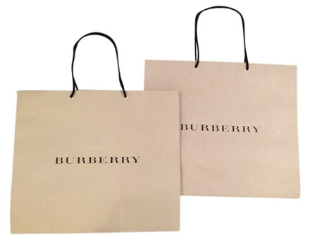 Burberry Large Burberry Shopping / Gift Bags - Lot Of 2