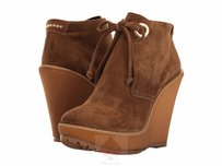Burberry Light Oak Brown Wedges
