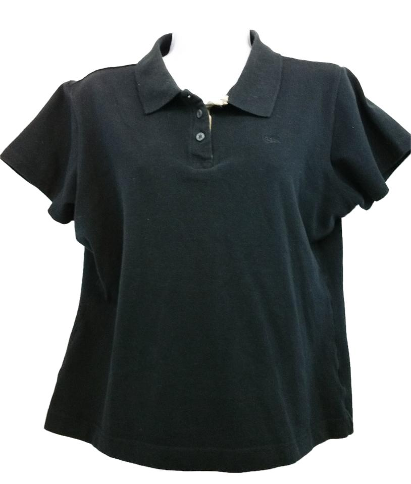 black burberry polo shirt
