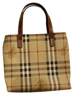 Burberry London Canvas Leather Tote