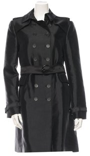 Burberry London Silk Trench Trench Trench Coat