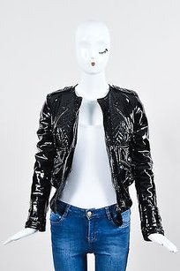 Burberry Patent Leather Motorcycle Jacket