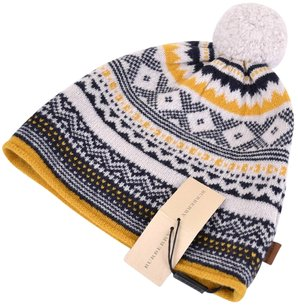 Burberry NEW BURBERRY MEN'S $165 FAIR ISLE 100% LAMBSWOOL KNITTED SKI BEANIE HAT