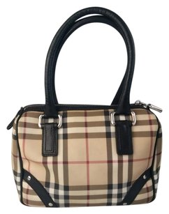 Burberry Nova Check Canvas Leather Satchel in House Check