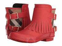 Burberry Orange Red Boots