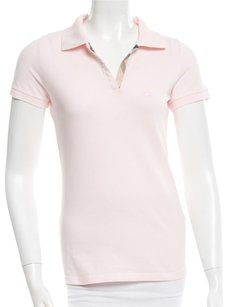 Burberry Nova Check Polo T Shirt Pink, Beige