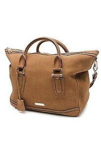 Burberry Nubuck Leather Satchel in Brown